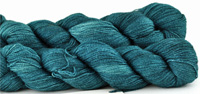 Malabrigo Silkpaca Yarn color teal feather