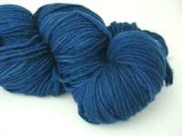 Malabrigo Merino Worsted Yarn, color azul profundo 150