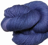 Malabrigo Merino Worsted Yarn, color indigo 88