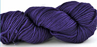 Malabrigo Merino Worsted Yarn color purple mystery