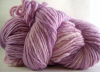Malabrigo Merino Worsted Yarn, color orchid 34