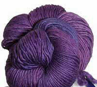Malabrigo Merino Worsted Yarn, color purple magic 609