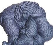 Malabrigo Worsted Merino Yarn, color stone blue 99