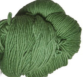 Malabrigo merino Worsted Yarn, color 117 verde adriana