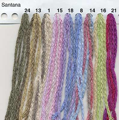 Reynolds Santana yarn color card