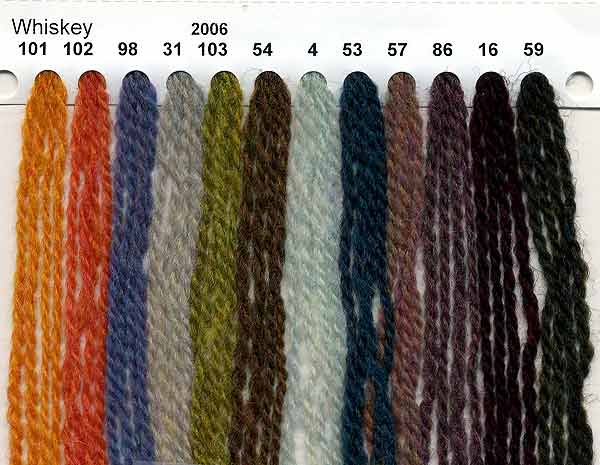 Reynolds Whiskey Knitting Yarn Color Card