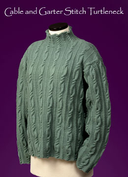 Vermont Fiber Designs Cable and Garter Stitch Turtleneck