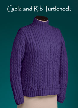 Vermont Fiber Designs Cable and Rib Turtleneck