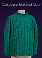 Vermont Fiber Designs knitting pattern  - Cable & Rib Turtleneck