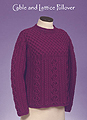 Vermont Fiber Designs knitting pattern  - Cable & Lattice Pullover