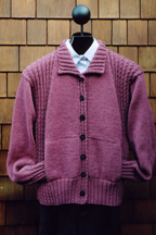 Mari Sweaters Cabled Panel Jacket