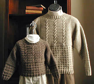 Lisa Knits Like Father-Like Son sweater pattern