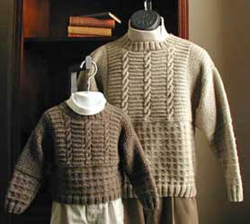 Lisa Knits Father-Son Sweater Set  knitting pattern