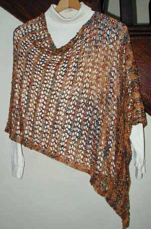 Light and Lacy Poncho Knitting Pattern
