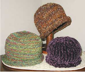Lisa Knits Rolled Brim Hat  knitting pattern