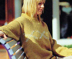 Jo Sharp Knitting Pattern Book Six - Village knitting pattern Favorite. Jo Sharp Silkroad Ultra knitting yarn.