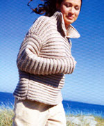Jo Sharp Contemporary Knitting Book - Fisherman's Rib Sweater