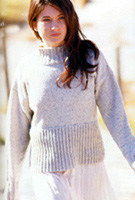 Jo Sharp Contemporary Knitting Book - Moss Rib Sweater