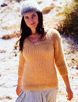 Jo Sharp Contemporary Knitting Book - Ribbed Mohair Top