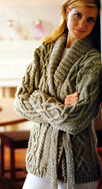Jo Sharp SILKROAD ARAN TWEED knitting yarn  Wrap Cardigan knitting pattern  Knitting Pattern Book - Contemporary Knitting Two