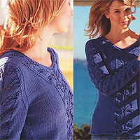 Jo Sharp Knit Issue 2 knitting book - Hour Glass Cable Sweater