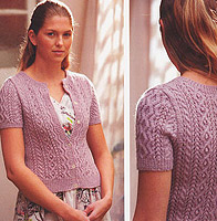 Jo Sharp Knit Issue 2 knitting book Lacy Cable Cardigan