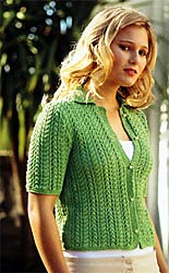 Jo Sharp Knit Issue 5, Jo Sharp Soho Summer Cotton DK Lacey Cabled Cardigan