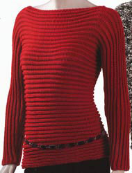 Trina Sleeve to Sleeve Rib Pullover Kit