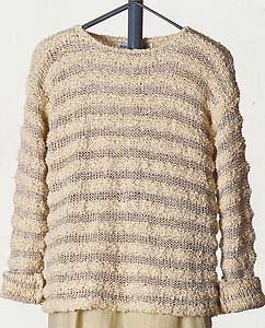 Vittadini Spring Collection 1995 vol 4 - Adriana & Gabriella Textural Stripe Pullover knitting pattern