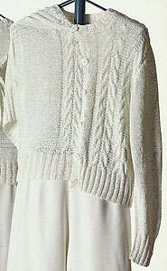 Vittadini Spring Collection 1995 vol 4 - Carina Cardigan with Cabled Front knitting pattern