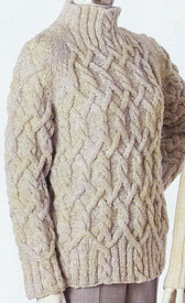 Aria Lattice Cabled Raglan knitting pattern; Adrienne Vittadini Fall Collection 1997 vol 9