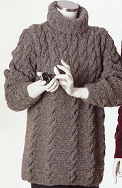 Aria Trapeze Pullover knitting pattern; Adrienne Vittadini Fall Collection 1997 vol 9