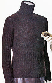 Maria Stockinette & Rib Turtleneck knitting pattern; Adrienne Vittadini Fall Collection 1997 vol 9